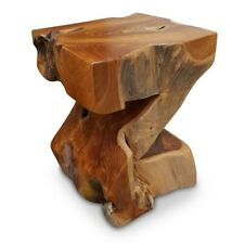 Root Wood Table Side 15 11/16x11 13/16in Teak Solid Podium