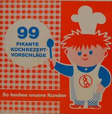 """99 PIKANTE KOCHREZEPT-VORSCHLÄGE - BOLLE WERBEPLATTE Single 7"""" (J212)"""