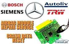 MERCEDES AIRBAG ECU SRS ECU AIRBAG MODULE CRASH DATA RESET REPAIR SERVICE