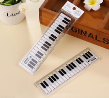 10 pcs music Black and white piano keys ruler 15cm straight ruler students gifts