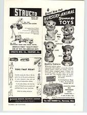 1953 PAPER AD Structo End Loader #340 #402 Truck & Steam Shovel Oak Rubber Doll
