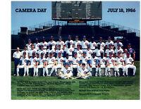 1986 CHICAGO CUBS  8X10 TEAM PHOTO BASEBALL ILLINOIS HOF WRIGLEY