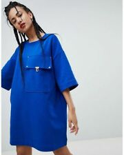 Love Moschino Giant Pocket T-Shirt Dress Blue size UK8/40/S RRP£210