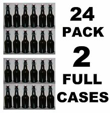 BEER BOTTLES 24 EZ CAP AMBER GLASS SWING-TOP SODA 16oz FLIP TOP EZCAP GROLSCH