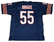 LANCE BRIGGS SIGNED AUTOGRAPHED CHICAGO BEARS #55 NAVY JERSEY JSA