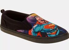 NEW Mens Sz 10 DC Comics Superman Canvas Slip on Shoes Sneakers Comfortable