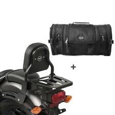 Sissybar xs3 + bolsa popa rb1 para Kawasaki VN 900 light 10-14 con portaequipajes