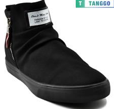 Tanggo High Cut Zip Sneakers Men's Casual Shoes Shoes 9263 (Black)