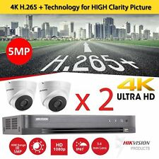 2 x CCTV Hikvision Camera HD 1080P 5MP Night Vision DVR Home Security System