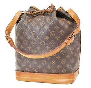 Authentic LOUIS VUITTON Noe Monogram Shoulder Tote Bag Purse #37699