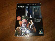 Sony 3D Deluxe Starter Kit - 3D Glasses Disney Alice in Wonderland 3D BluRay