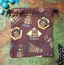 Doctor Who Brown Dalek dice bag, card bag, makeup bag