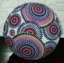 Flat Round Shape Cover*Aster Cotton Canvas Floor Seat Chair Cushion Case*AF2