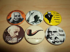Michel Foucault Buttons Pins Badges philosophy philosopher archaeology history