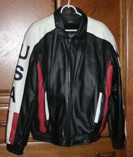 Vilanto Authentic Leather Wear Men's Motor Cycle Jacket XL With Removable Liner