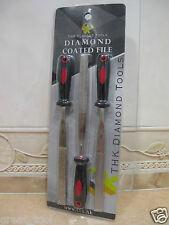 "3 pcs 180mm ( 7"" inch ) THK Diamond coated FLAT file files 3 different GRIT SET"