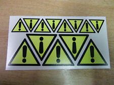 SAFETY LABELS - DANGER/WARNING symbol - decals/stickers x13