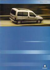 Peugeot Partner Combi 2002 UK Market Sales Brochure 1.4 1.9D