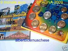 2009 SPAGNA 9 monete euro espagne spanien CANARIAS