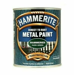 Hammerite Hammered Dark Green Metal Paint 250ml
