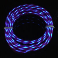 1-5M LED Flexible Chasing EL Wire Neon Glow String Rope Light + 12V Controller