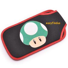 easyfindus for sony PSP 1000 2000 3000 Soft case mario mushroom black green new