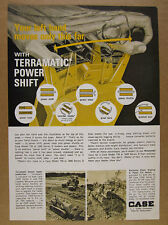 1964 Case 1000 750 Loader Dozer with Terramatic Power Shift vintage print Ad