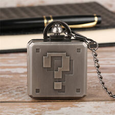Vintage Super Mario Pocket Watch Antique New Design Quartz Necklace Pendant Gift