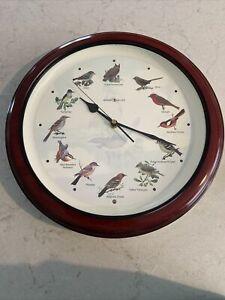"Howard Miller Quartz Wall 12 Singing Birds Clock 13.25"" Round Musical Bird Sound"