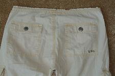 TRUE RELIGION 28X33 CARGO Jeans NWOT$238 Cream! Adjustable Lengths! Rare Sample