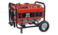 King Canada Tools KCG-4200G 4200W Gasoline Generator with Wheel Kit Génératrice