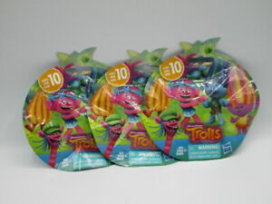 DreamWorks Trolls Series 10 Mini Figure Blind Bag Lot of 3 Party Favor Brand New