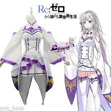 Karneval Re: ZERO Starting Life in Another World Emilia Women Cosplay Costume