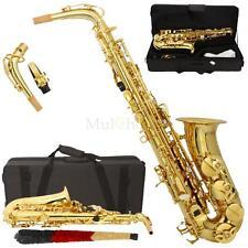 New MBAT Beginner Student Super Sound Paint Gold Eb Alto Saxophone Sax w/Case