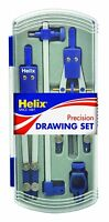 HELIX PRECISION DRAWING SET WITH THUMBWHEEL AND TECHNICAL COMPASS