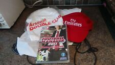 ARSENAL COLLECTABLE DOUBLE CLUB BAG, T SHIRT, HAT, FOOTBALL MANAGER 2011 ARSENAL