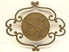 Antique Metal Bronze Decorative Griffin Wall Hanger Part Finial Piece Hardware