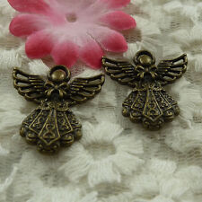 free ship 120 pieces bronze plated angel charms 26x24mm #4309
