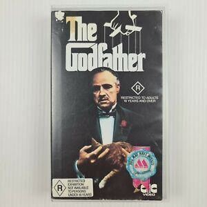The Godfather VHS Tape -  Marlon Brando - Al Pacino - TRACKED POSTAGE