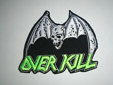 OVERKILL THRASH METAL IRON ON EMBROIDERED PATCH