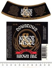 Beer Label - Kobor White Brewery - USA - Downtown Brown Ale