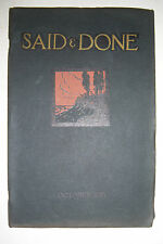 SAID & DONE magazine October 1923, Muskegon High, Hackley Training School.
