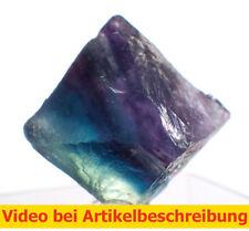 6539 polychromer Fluoritspaltoktaeder ca1,8cm Fluorite Octahedron diamond MOVIE