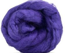 4 Ounces Bamboo Combed Top/Roving  - Purple/Violet - SHIPS FREE