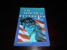 A Beka Book Reading Program Of America 1 homeschooling History reader 5th grade