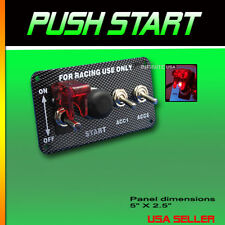 Push Button Start 3 Toggle Switch - CARBON START PANEL Ignition Switch Panel,