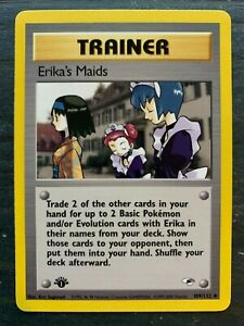 Erika's Maids 109/132 - Gym Heroes - 1st Edition NM