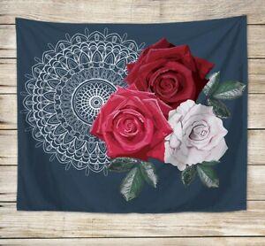 colorful wall decor rose mandala wall hanging tapestry