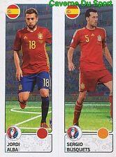 376 JORDI ALBA / SERGIO BUSQUETS ESPANA SPAIN STICKER EURO 2016 PANINI