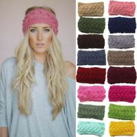 Fashion Elastic Womens Winter Warm Knit Beret Hat Beanie Braided Crochet Ski Cap